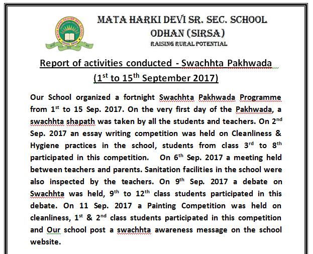 pics of swachhta pakhwada programme